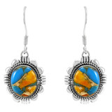 Spiny Turquoise Earrings Sterling Silver E1341-LG-C89