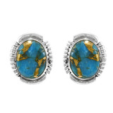 Matrix Turquoise Earrings Sterling Silver E1343-C84