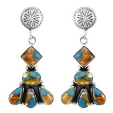Spiny Turquoise Earrings Sterling Silver E1132-C89