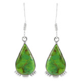Green Turquoise Earrings Sterling Silver E1318-C76