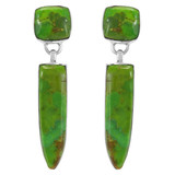 Green Turquoise Earrings Sterling Silver E1344-C76