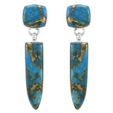 Matrix Turquoise Earrings Sterling Silver E1344-C84