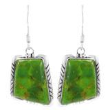 Green Turquoise Earrings Sterling Silver E1345-C76