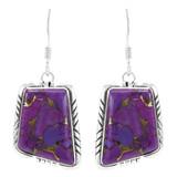 Purple Turquoise Earrings Sterling Silver E1345-C77