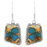 Spiny Turquoise Earrings Sterling Silver E1345-C89