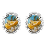 Spiny Turquoise Earrings Sterling Silver E1346-C89