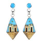 Multi Gemstones Earrings Sterling Silver E1348-C05P