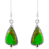 Sterling Silver Earrings Green Turquoise E1065-SM-C76