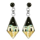 Multi Gemstones Earrings Sterling Silver E1348-C11P