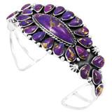Purple Turquoise Bracelet Sterling Silver B5494-C77