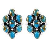 Matrix Turquoise Earrings Sterling Silver E1242-C84