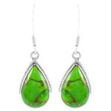 Green Turquoise Drop Earrings Sterling Silver E1298-C76