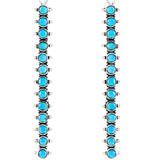 Sterling Silver Drop Earrings Turquoise E1351-C75