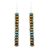 Sterling Silver Drop Earrings Spiny Turquoise E1352-C89