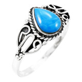 Turquoise Ring Sterling Silver R2475-C75