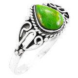 Green Turquoise Ring Sterling Silver R2475-C76