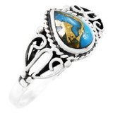 Matrix Turquoise Ring Sterling Silver R2475-C84
