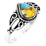Spiny Turquoise Ring Sterling Silver R2475-C89