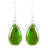 Green Turquoise Earrings Sterling Silver E1261-C76