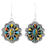 Spiny Turquoise Earrings Sterling Silver E1340-C89