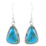Turquoise Earrings Sterling Silver E1353-C75