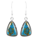 Matrix Turquoise Earrings Sterling Silver E1353-C84