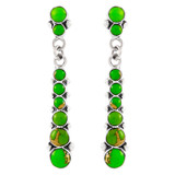 Green Turquoise Earrings Sterling Silver E1126-C76