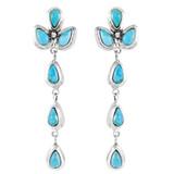 Turquoise Chandelier Earrings Sterling Silver E1204-LG-C75