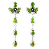 Green Turquoise Chandelier Earrings Sterling Silver E1204-LG-C76