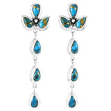 Matrix Turquoise Chandelier Earrings Sterling Silver E1204-LG-C84