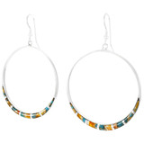 Spiny Turquoise Earrings Sterling Silver E1064-C89