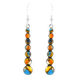 Spiny Turquoise Earrings Sterling Silver E1334-C89