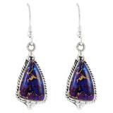 Purple Turquoise Earrings Sterling Silver E1065-LG-C77