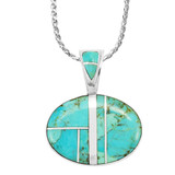 Turquoise Pendant Sterling Silver P3082-SM-C05