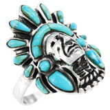 Turquoise Ring Sterling Silver R2476-C75