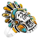 Spiny Turquoise Ring Sterling Silver R2476-C89