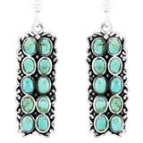 Turquoise Earrings Sterling E1354-C75