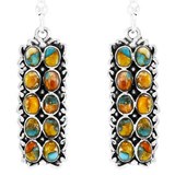 Spiny Turquoise Earrings Sterling Silver E1354-C89