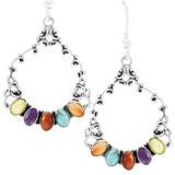 Multi Gemstones Earrings Sterling Silver E1355-C71