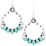 Turquoise Earrings Sterling E1355-C75