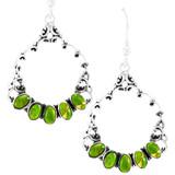Green Turquoise Earrings Sterling Silver E1355-C76