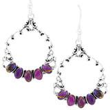 Purple Turquoise Earrings Sterling Silver E1355-C77