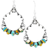 Spiny Turquoise Earrings Sterling Silver E1355-C89