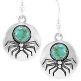 Spider Turquoise Earrings Sterling E1356-C75