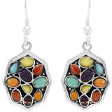 Multi Gemstones Earrings Sterling Silver E1357-C71