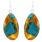 Spiny Turquoise Earrings Sterling Silver E1358-LG-C89