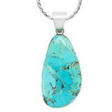 Turquoise Pendant Sterling Silver P3102-LG-C75