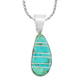 Turquoise Pendant Sterling Silver P3102-SM-C05