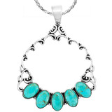Turquoise Pendant Sterling Silver P3292-C75