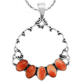 Spiny Oyster Pendant Sterling Silver P3292-C78